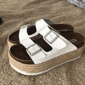 Steve Madden platform Birkenstock style sandals